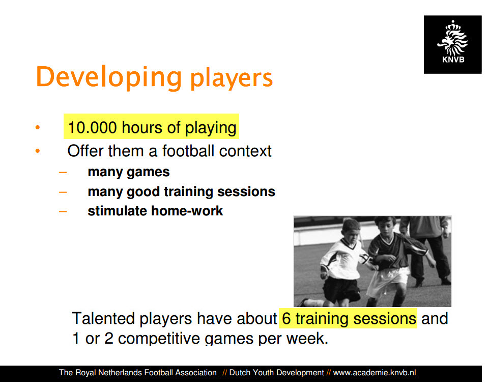 KNVB hamert op 10.000 uur training en veel trainingen