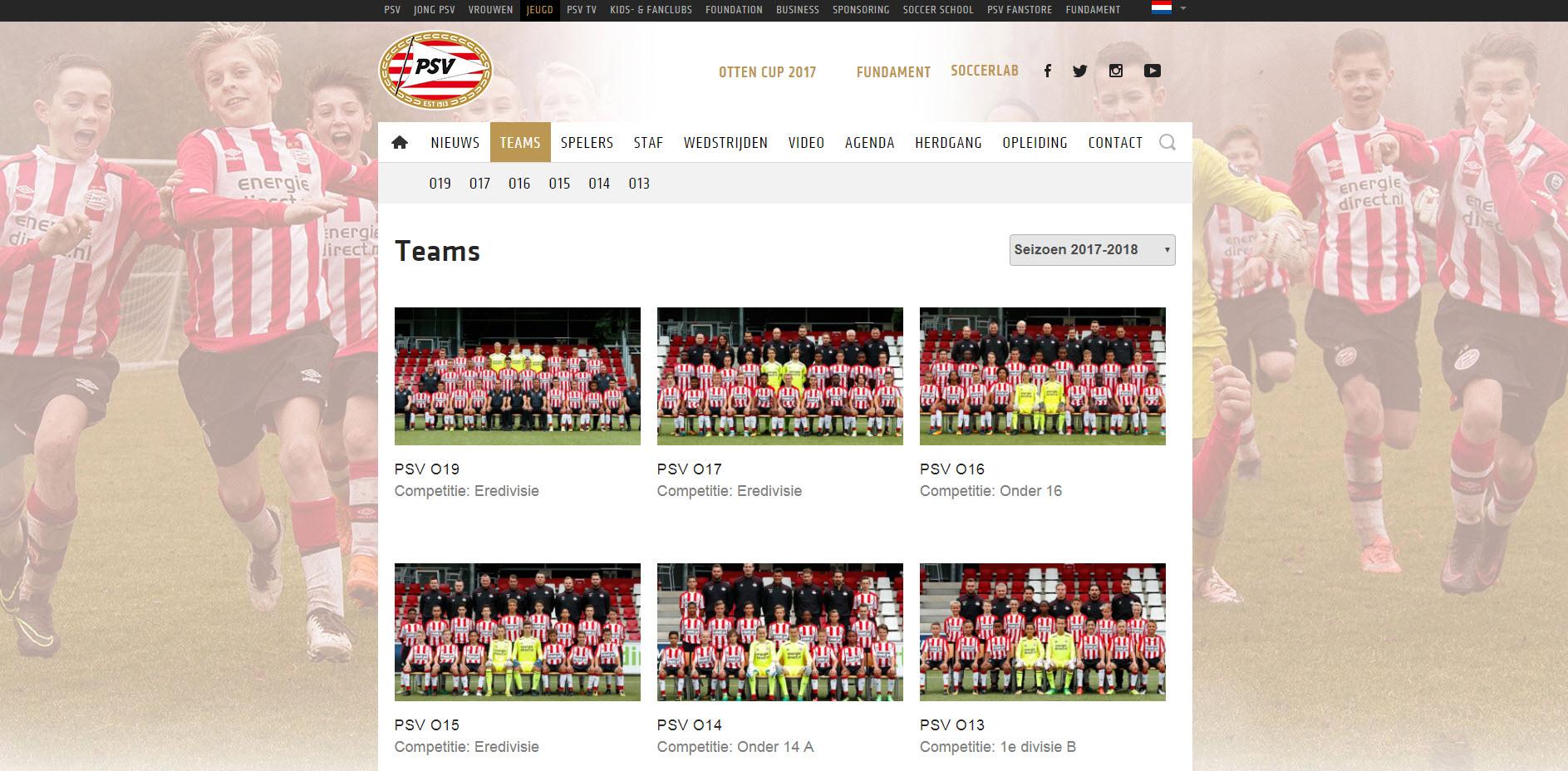 PSV jeugdteams